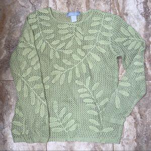 Modern Soul Leaf Thin Knit Sweater M